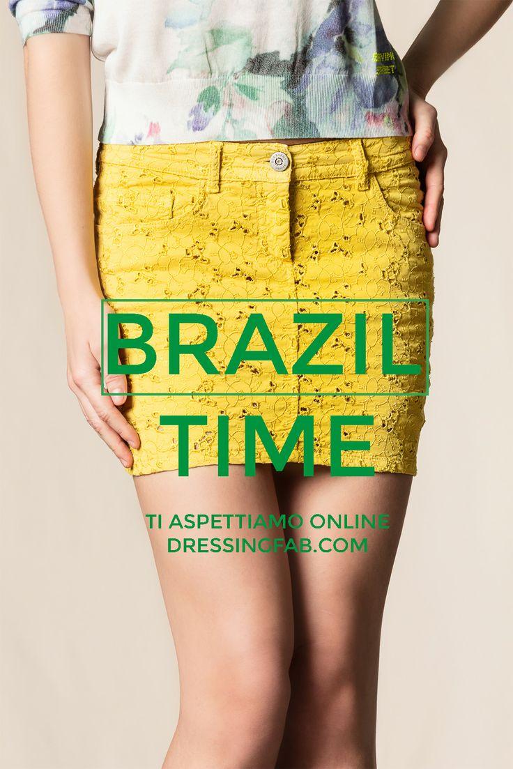 Brazil Time #Brazil #scervinostreet #skirt #yellow