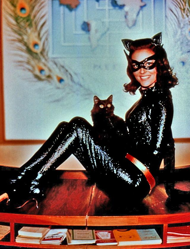 Lee Meriwether in costume as the villainous Catwoman. She ...