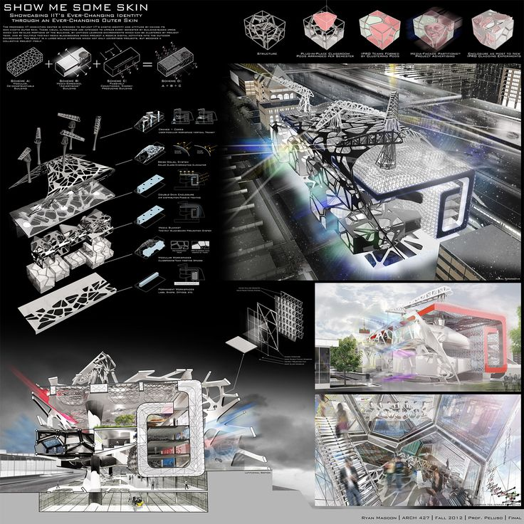 Three winning entries and four honorable mentions have recently emerged from the IIT Innovation Center Parametric Student Design Competition, held at Illinois Institute of Technology's College of Architecture under the guidance of professors Alphonso Peluso & John Manaves.