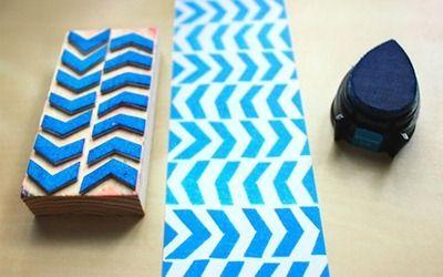 diy easy stamp - sellos caseros Forma simple de hacer sellos caseros