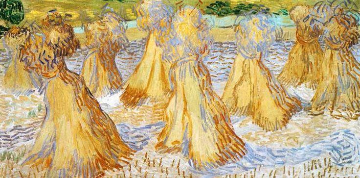 Vincent Van Gogh - Post Impressionism - Auvers - Meules de blé - 1890