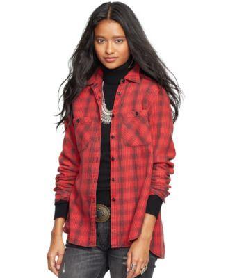 Denim & Supply Ralph Lauren Flannel Utility Shirt | macys.com