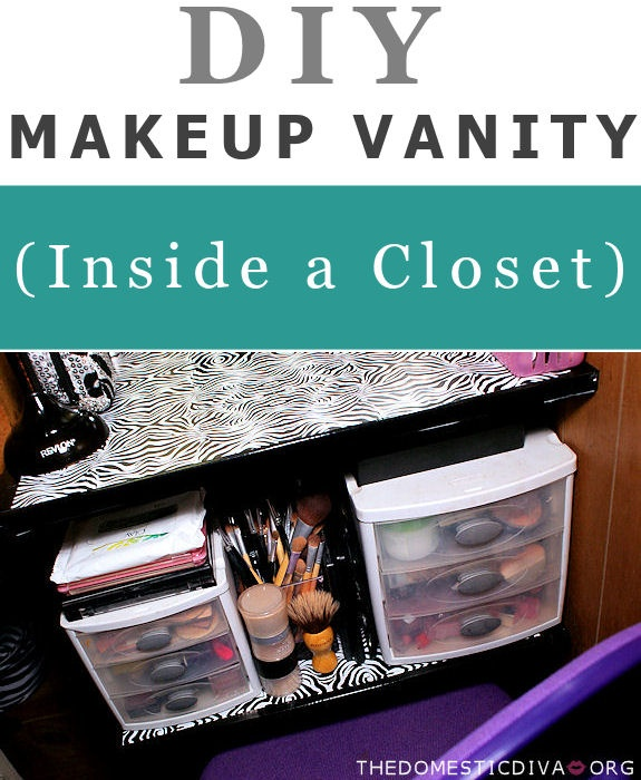 DIY: Makeup Vanity Inside A Closet Part 76
