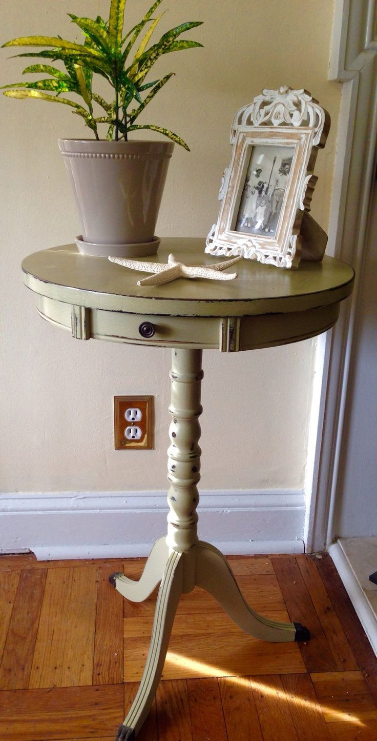 Vintage Duncan Phyfe Mahogany Table Hand Painted Annie Sloan Versailles by  ColorfulHomeDesigns on Etsy