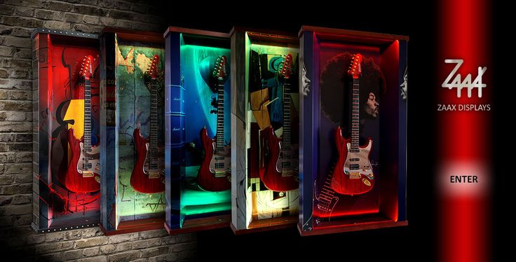 ZAAX Guitar Displays
