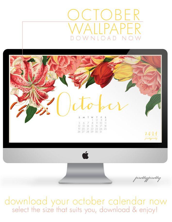 Free October Wallpaper Calendar - Download now