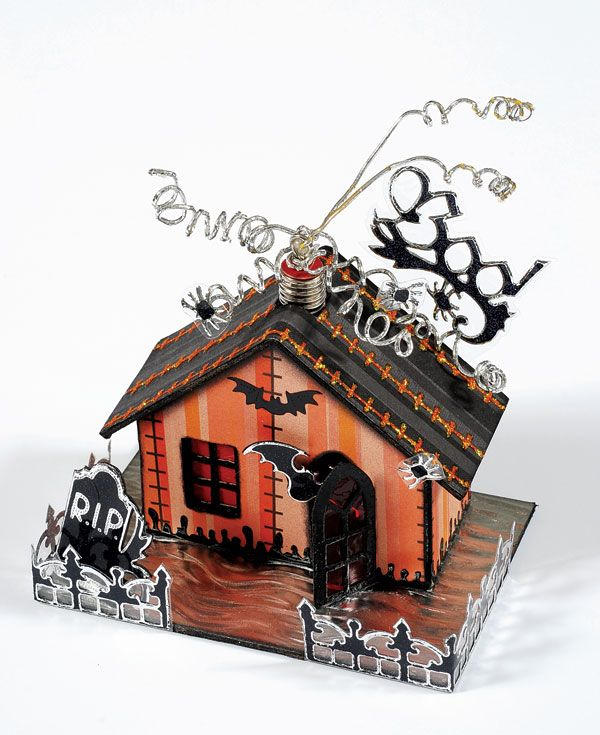 little haunted house - Miniature Halloween Decorations