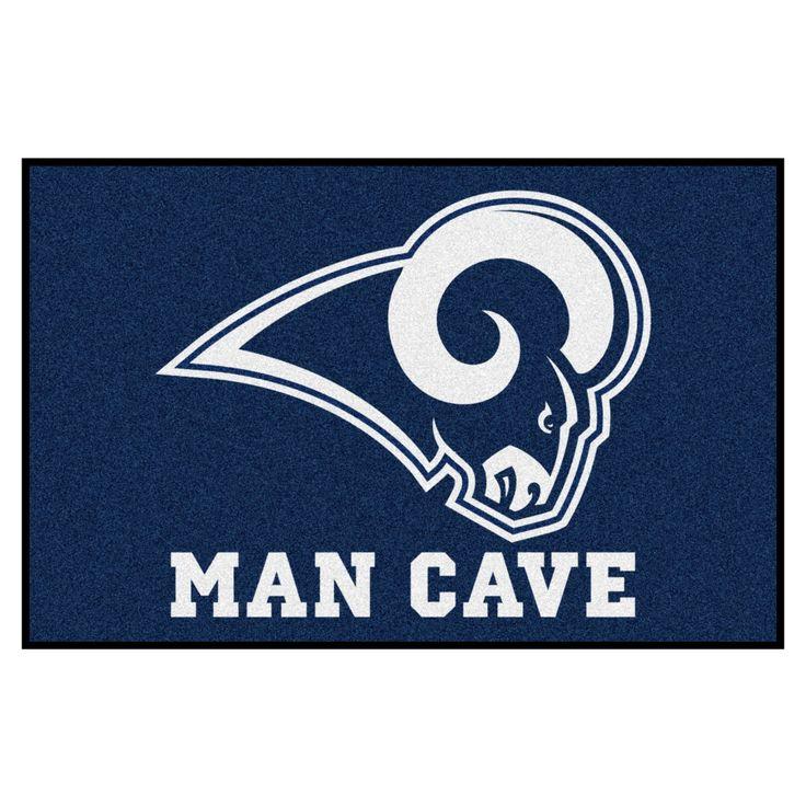 "NFL Los Angeles Rams Man Cave Starter Rug 19""x30"""