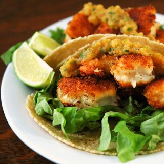 Shrimp Taco With Ranchero Sauce, Grilled Corn And Grapes Recipes ...
