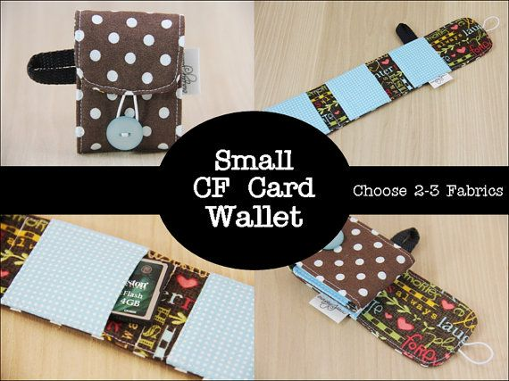 CF Memory Card Wallet - Mini Version - You Choose Fabrics - Made to Order