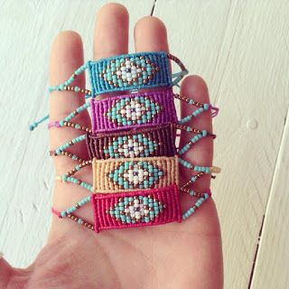 Summer collection macrame bracelets