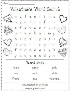 Valentine S Day Word Search Freebie Valentine Party Ideas