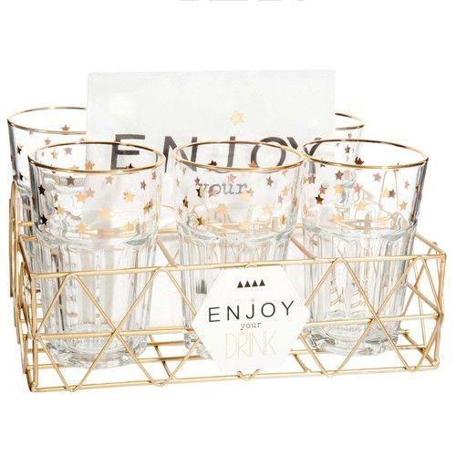 6 vasos altos + servilletas ENJOY YOUR DRINK