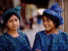 Guatamala: traditional clothing from the town of santa catarina palopo on lake atitlan