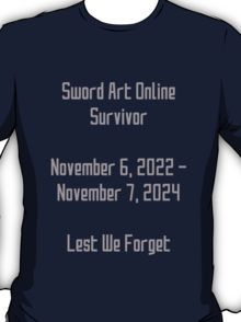 Sword Art Online Survivor T-Shirt