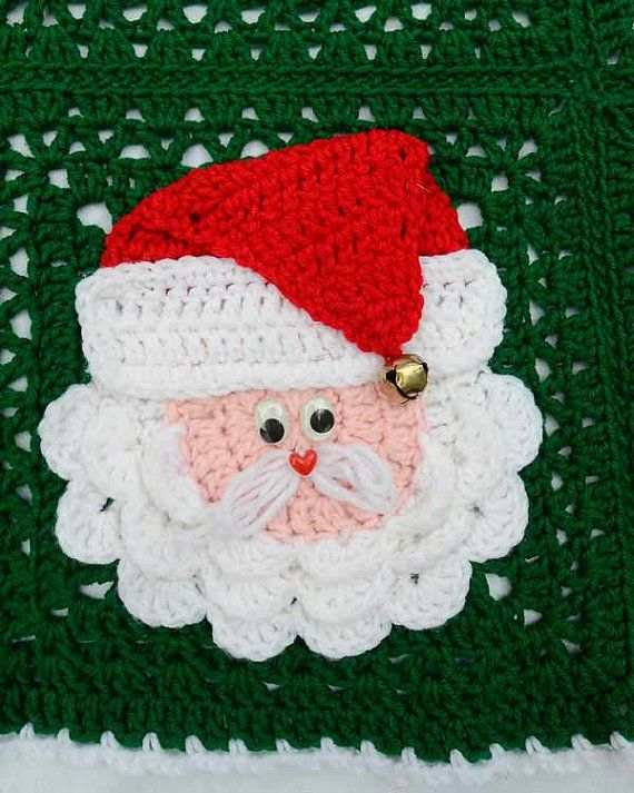 Christmas Santa Afghan Pattern PDF por Maggiescrochet en Etsy