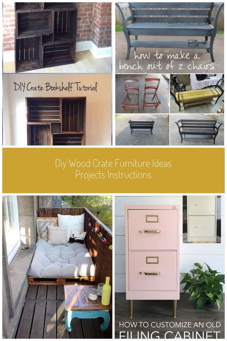 DIY Wood Crate Bookshelf Instructions - DIY Wood Crate ...