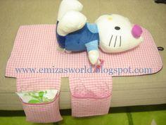 Emiza 'Sevgiyle yapılan el sanatları': Bebek Alt Açma Minderi (Çantası) / Baby Changing Mat ( Clutch)