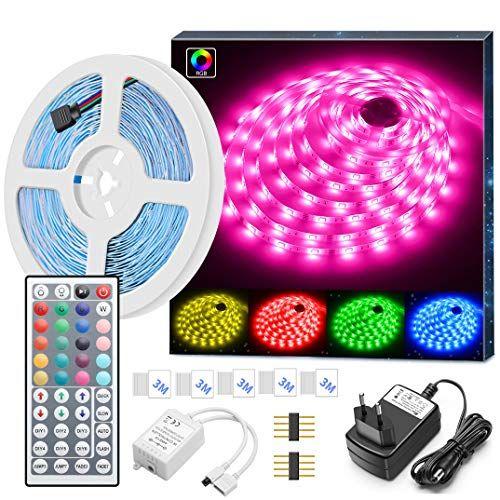 Minger <b>LED</b> Ruban <b>5M 5050 RGB SMD</b> Multicolore Bande <b>LED</b> ...