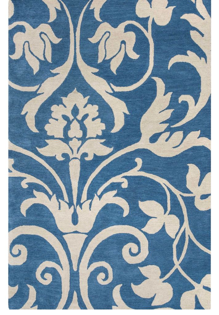 Mari Flourish Royal Blue Rug RugsBlue Area