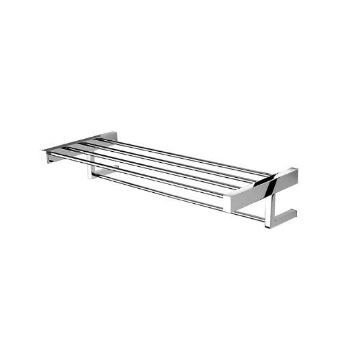 Geesa Chrome Towel Rack or Towel Shelf 3552-02 by Geesa. $567.00. Polished chrome finish. Perfect for storage of rolled or folded towels. Wall hung towel rack shelf. Made out of brass. Contemporary style wall mounted towel bar shelf. Towel rack shelf made out of brass with a polished chrome finish. Modern towel bar(s) easily mount to the wall with screws. Made in the Netherlands by Geesa. Wall hung towel rack shelf. Perfect for storage of rolled or folded towels. Made out of bras...