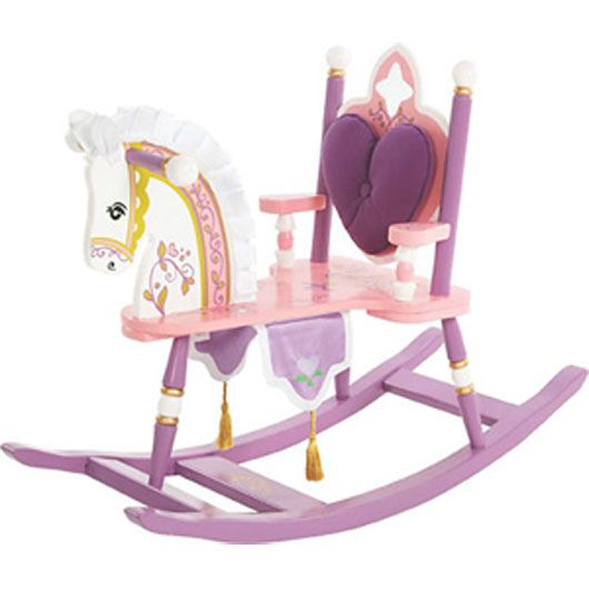"As your Little Princess grows she'll certainly need a royal horse to ride! This adorable ""Kiddie Ups"" rocking horse is a perfect feature for a princess inspired nursery."