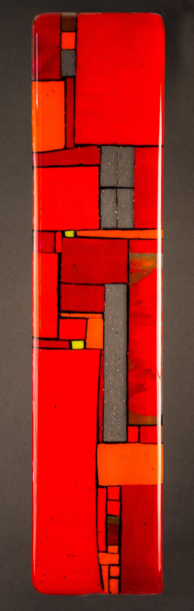 Windows Red - wWall by Meg Branzetti, Vicky Kokolski: Art Glass Wall Art available at www.artfulhome.com