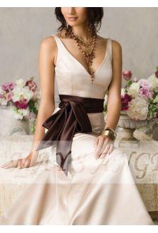 Robe Ceinture chocolat - robe de soirée ? maysange