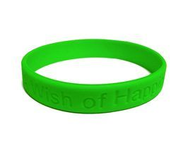 Personalize your homemade silicone bracelets.
