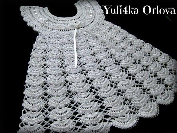 Crochet gentle baby dress