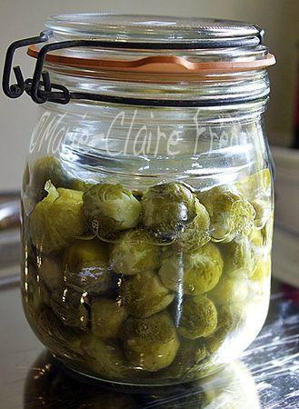 conserve lacto-fermenté: choux de bruxelle + cuisson des haricots verts lacto-fermenté