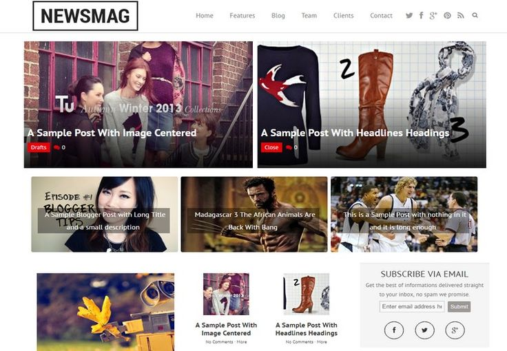 #Newsmag #Blogger Template Free Download   News Magazine Template