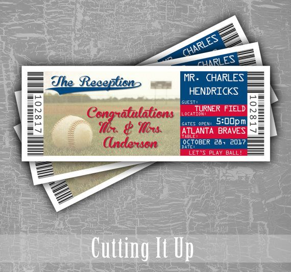988 best Baseball Wedding images on Pinterest Weddings, Baseball - play ticket template