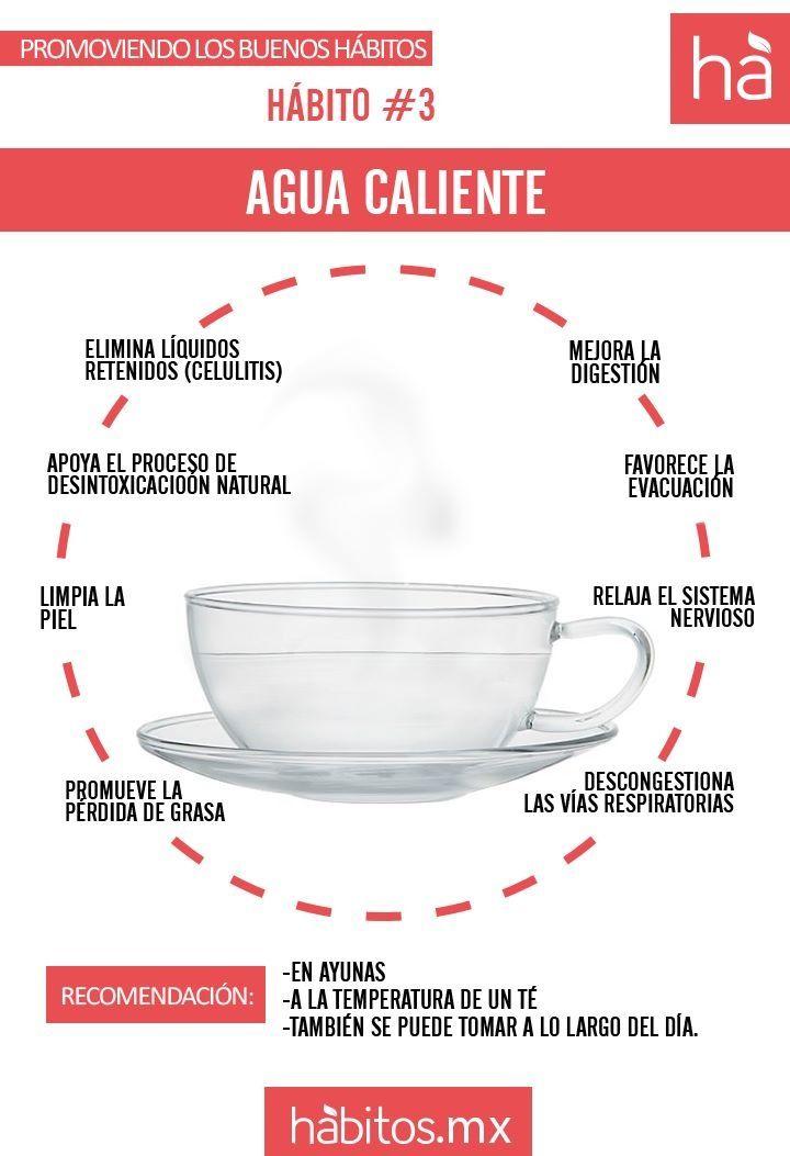 Beneficios de tomar agua caliente, y  si no la puedes tomar sola, con unas  gotitas de limon