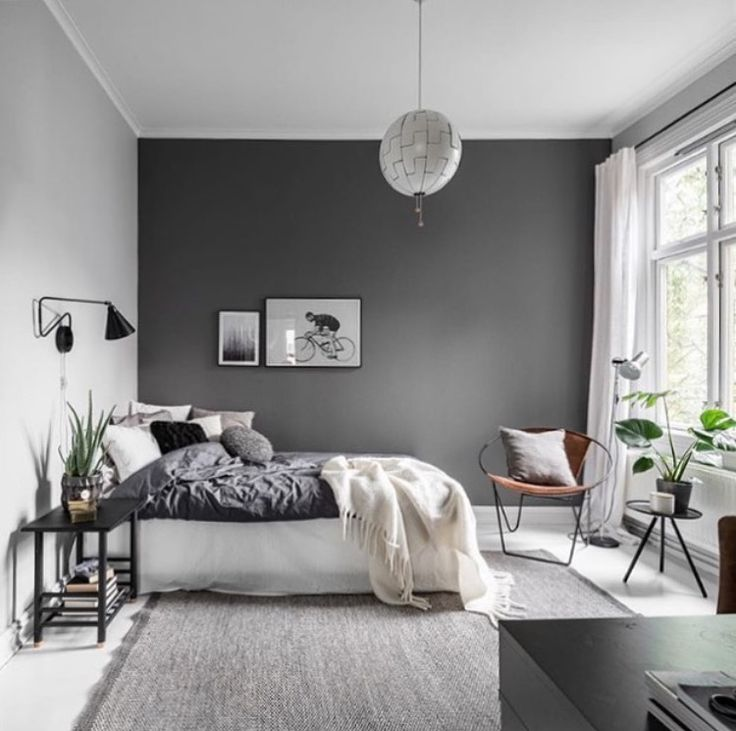 Best 25+ Dark grey bedrooms ideas on Pinterest | Grey bedroom colors,  Bedroom color schemes and Bedroom colors purple