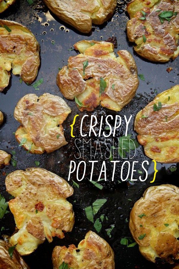 Crispy Smashed Potatoes // shutterbean @Shutterbean