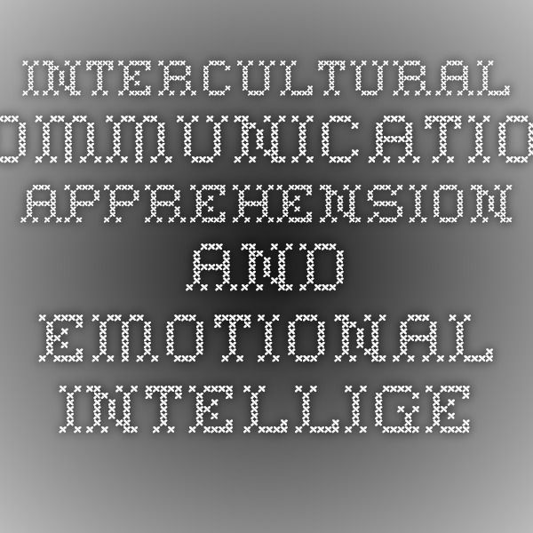 cultural differences and emotional intelligence Int marit health 201263(2):90-5 cultural differences in emotional intelligence  among top officers on board merchant ships johnsen bh(1), meeùs p, meling j, .