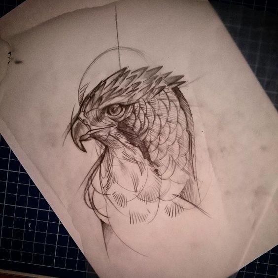 1000 images about tatouages on pinterest peregrine - Dessin de faucon ...