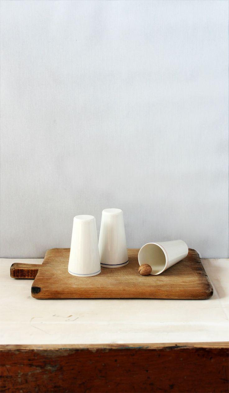 Beautiful glasses, made of ceramic, by Mădălina Teler