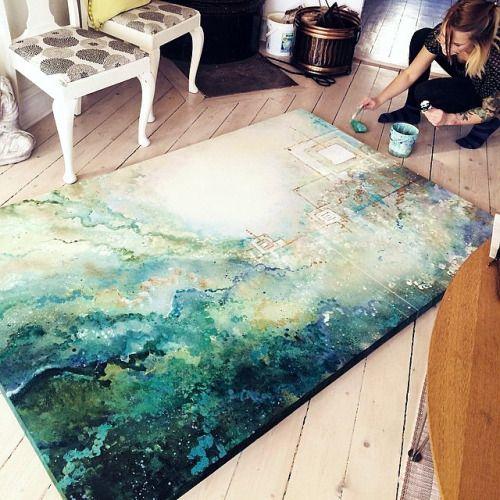 Emma Lindström - Cosmic Zusammensetzungen 26-jährige Maler Emma Lindström schafft bunten Wirbel von awesomeness eine Kombination aus Acryl und…