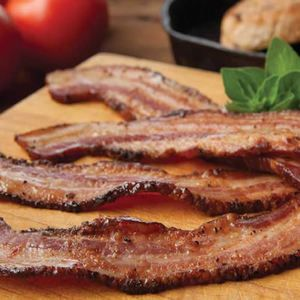 "Thick Sliced Cajun Style Country Bacon Steaks - 4 x 1 lb Packages - Thick Cut Gourmet Smokehouse Bacon Gift Box.  This Cajun bacon is sliced EXTRA THICK. We call this ""BACON STEAK"" and it's great bbq grilled, baked, or skillet fried. For bacon lovers this is the ultimate choice."