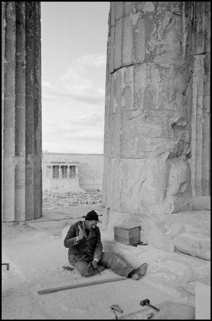 Works on the Acropolis, Athens, Greece, 1962 by Leonard Freed
