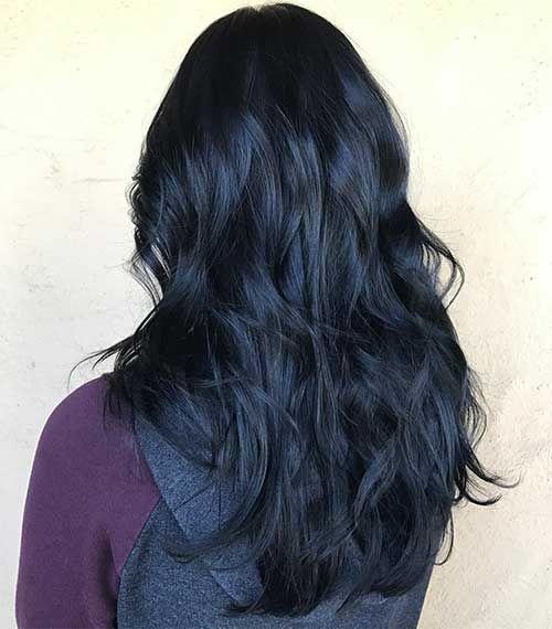 45 Cabelos Pretos Azulados + Tutoriais FÁCEIS de fazer! | Hair styles, Black hair dye, Hair color