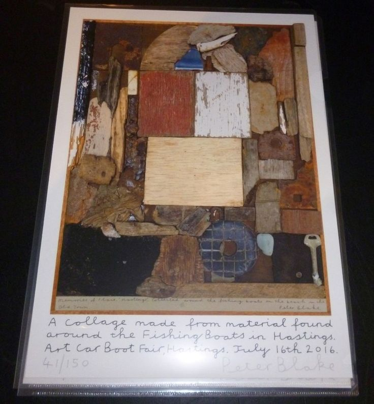 Peter Blake Hastings Beach Art Car Boot Fair 2016 genuine authentic signed print in Art, Prints, Contemporary (1980-Now)   eBay!