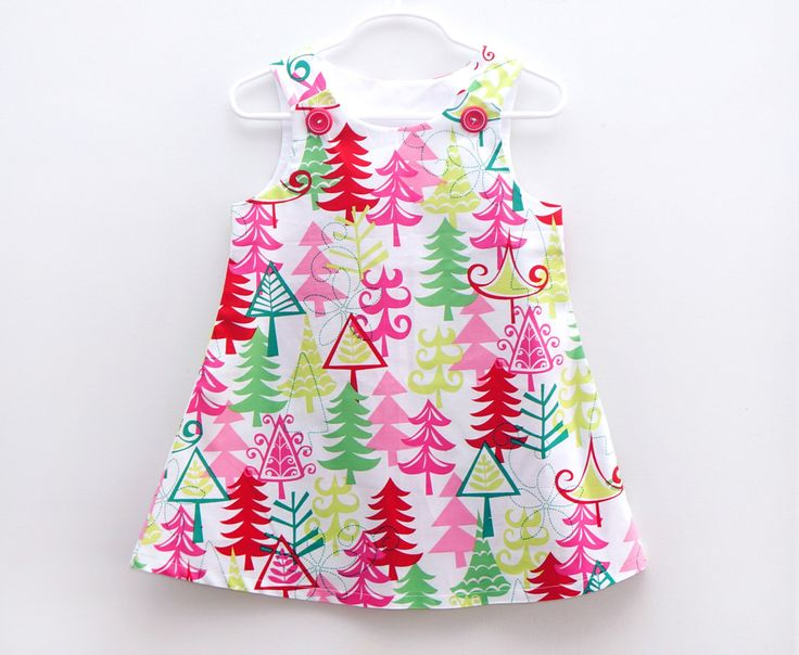 Christmas Jumper Dress, Girls Christmas Outfit, Pink Christmas, Trees, Holidays, Christmas Jumper by PalmValleyKids on Etsy https://www.etsy.com/listing/210917423/christmas-jumper-dress-girls-christmas