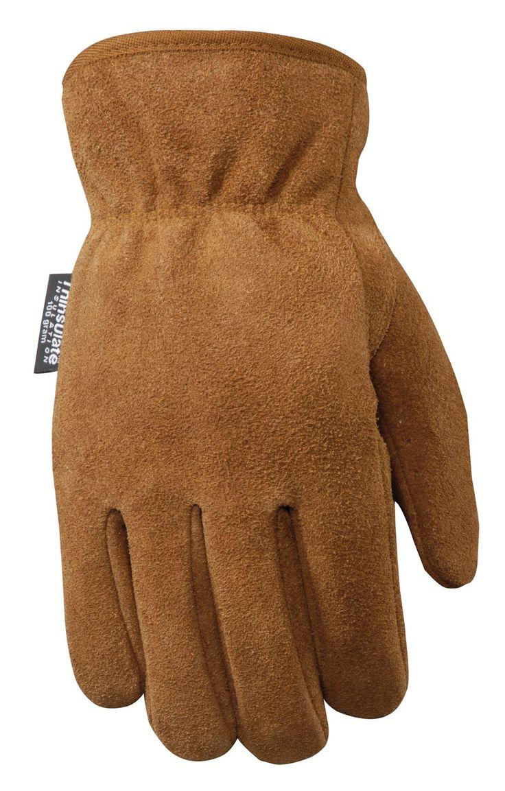 Gauntlet cuff leather work gloves - Wells Lamont Leather Work Gloves With 100 Gram Thinsulate Insulation Split Cowhide Xx