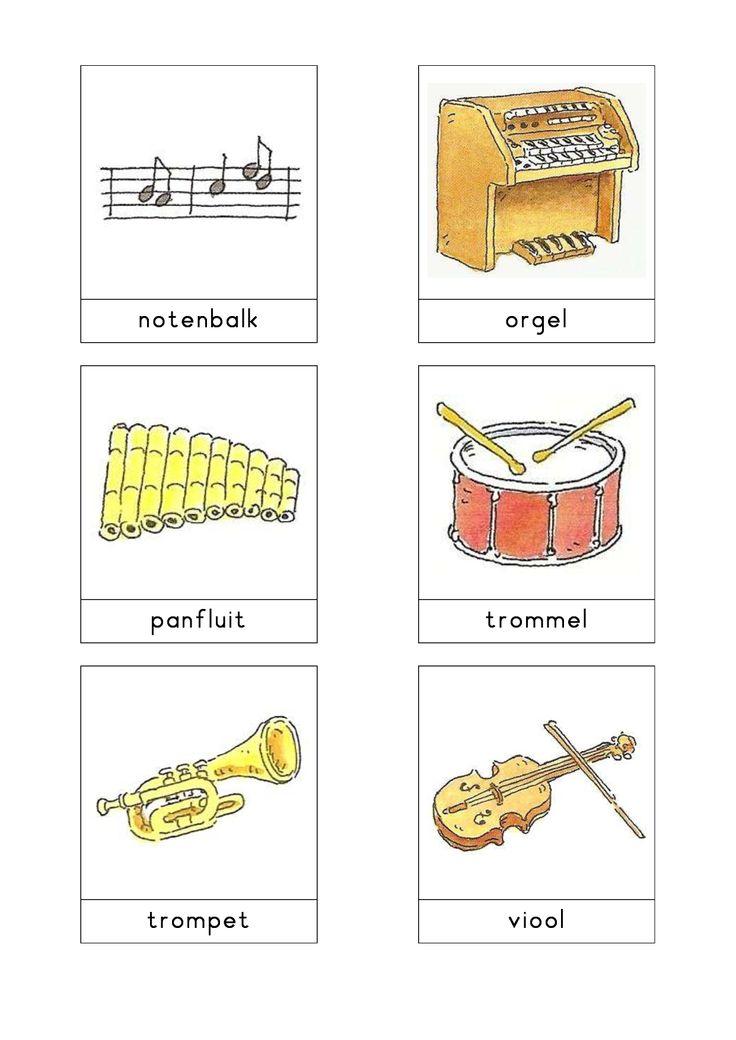 thema muziek Woordkaarten Bas 'De muziekwinkel' 2