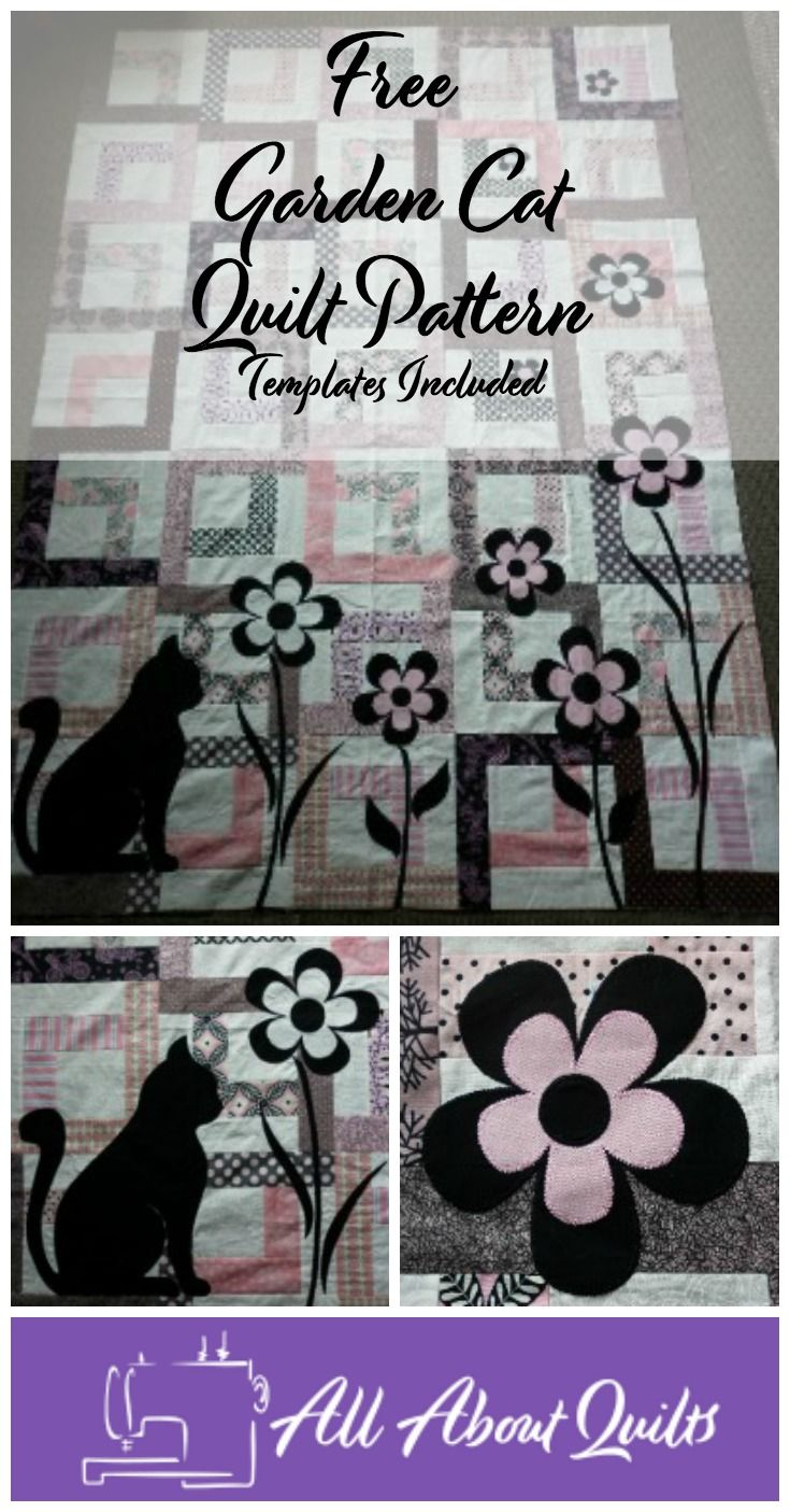 This simple but gorgeous Garden Cat Quilt is quick & easy to make. Adding the appliques gives it the wow factor making it the perfect cot quilt.