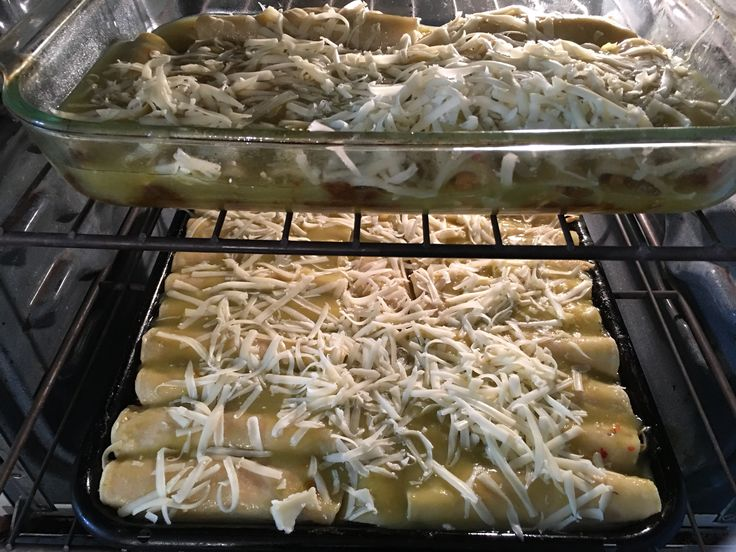 It's our son's 22nd birthday....and that means making him a few trays of his favorite, Enchiladas de Chile Verde y Pollo! #HeIsStillAtWork #BirthdayBoy #Delish #22Years