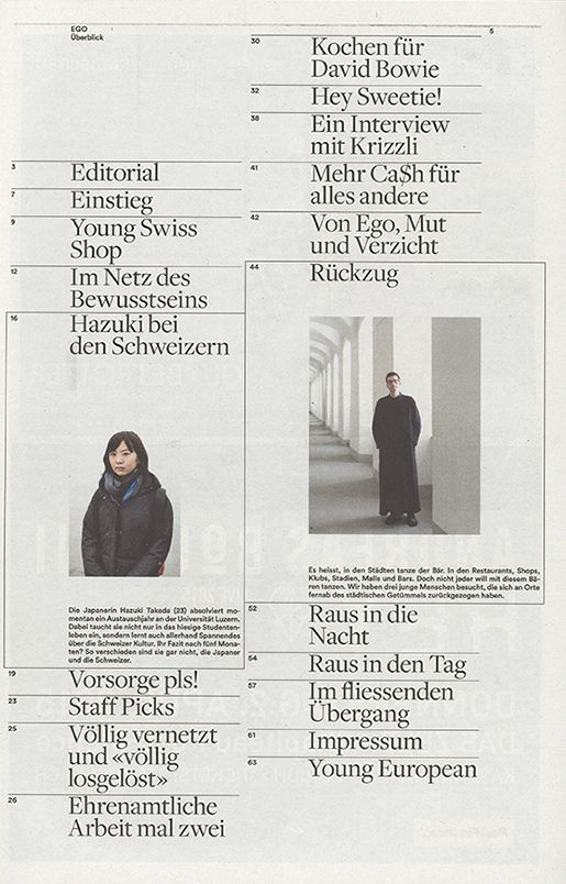 Young Swiss Magazine, Raphael Schoen